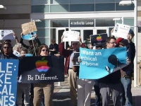 Apple protest for ethical iPhone