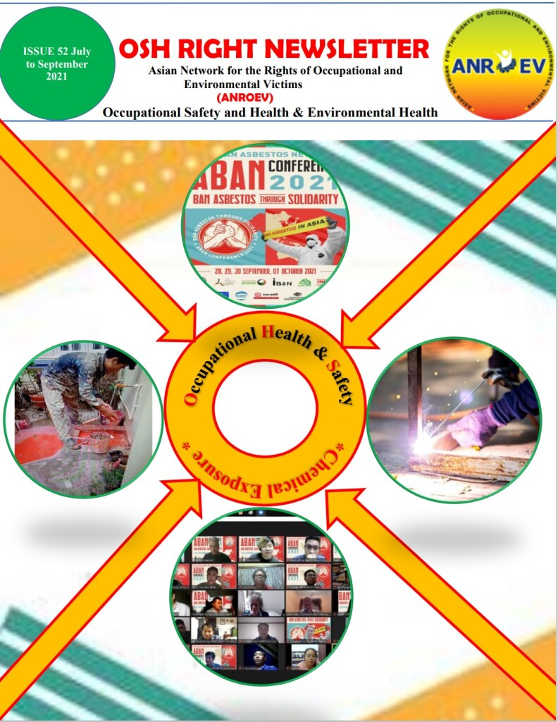 OSH RIGHT NEWSLETTER 52 Cover page